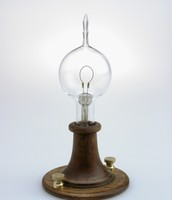 One of the first light bulbs