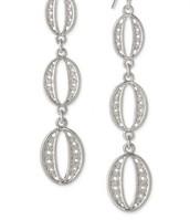 Kimberly Drop Earrings Silver