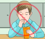 Stay away from sugary drinks!