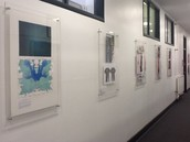 High quality displays of students' art work