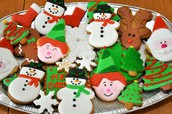 A variety of Christmas Cookies