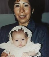 My godmother Eva and I