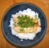 el pescado y arroz