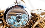 Owl w/blue crystals