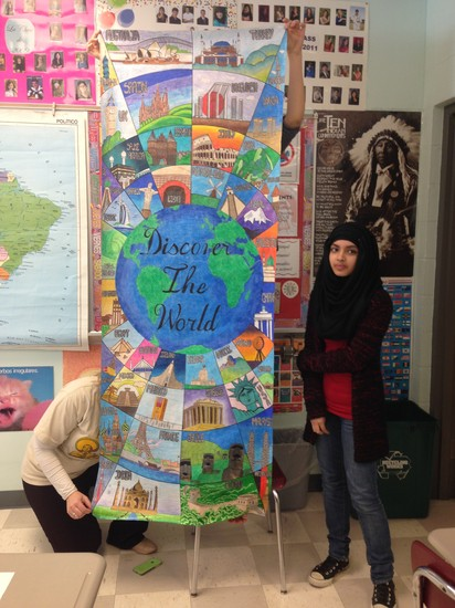 Kaniz Kashem created this incredibly beautiful \ Discover the World\  Door panel during World Language Week when door panels decorated the entire school in a ... & Parkland Weekly Update | Smore Newsletters for Education