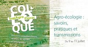 GLN takes part in the conference  on 'Agroecology: Knowledge, practices and transmission'