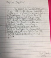 Tony's Letter