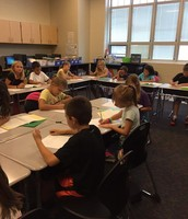 3rd graders writing letters