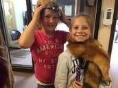 Students dressed up in authentic historic Ohioans clothing and furs during our visit to Fort Ancient.