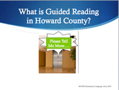 Create an Elevator Speech for Guided Reading