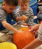 Early Childhood Center Carves Pumpkins