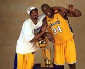 Kobe con Shaquille O'Neal