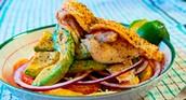 Dinner Idea (Blackened Tilapia with Orange-Avocado Salad)