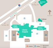 Liberty Hospital Map