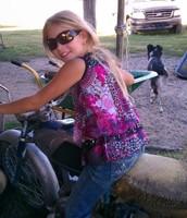 Sabre on motorcycle