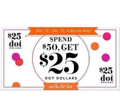 You'll earn $25 Dot Dollars on your order!