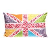 Sass belle: Bright Florals Union Jack Cushion