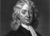 Sir Isaac Newton as a older man.