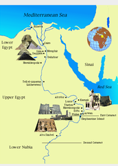 Map of Ancient Egyptw