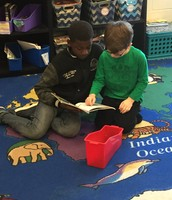 Buddy Reading - 4th and 2nd grade working together