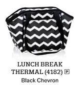 Lunch Break Thermal in Black Chevron