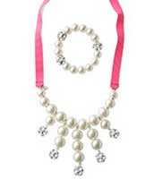 Olive Pearl Bib Necklace & Bracelet Set