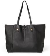 Paris Market Tote -black leather