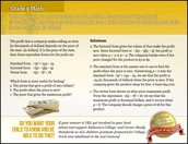 Math Standard of the Week - Algebra 1
