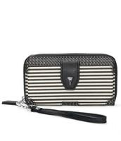 Madison Tech Wallet - Black/Crème Breton Stripe