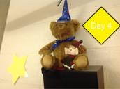 Hanging with birthday bear!