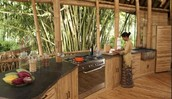 House with bamboo flooring