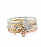 Moraley Flower Stackable Bands - Size 6