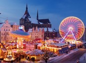 This is the Netherlands Christmas Ferris wheel.