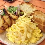 Huevos y queso