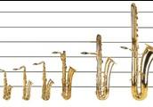 משפחת כלי הסקסופונים- הדגמת סדרי הגודל