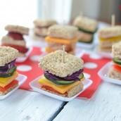 Mini Rainbow Sandwiches