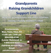 grandparents raising grandchildren support line