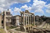 Het Forum Romanum,  op loopafstand van de accommodatie.