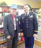 Former Mayor of Frisco Bob Warren and Major Tim Nelson join in the Smith Veterans Day Remembrance.