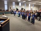Kindergarten Students Singing our School Song