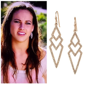 Pave Spear Earrings - Rose Gold