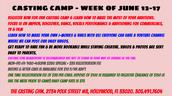 Casting camp
