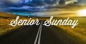 Senior Sunday!