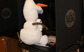 Olaf Votes in the Mock Election.