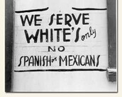 A racist sign on a restaurant.