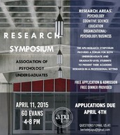 APU Spring 2015 Research Symposium