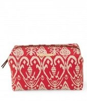 Pouf - red Ikat