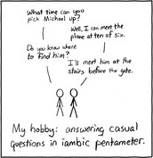 Why Shakespeare loved iambic pentameter?