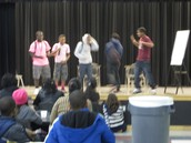 DMS Students Performing During Reader's Theater