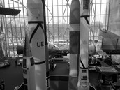 Rockets located in the space exhibit